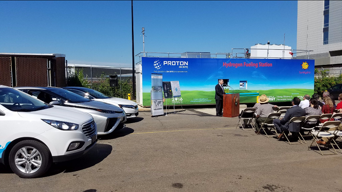 Proton hydrogen fueling station