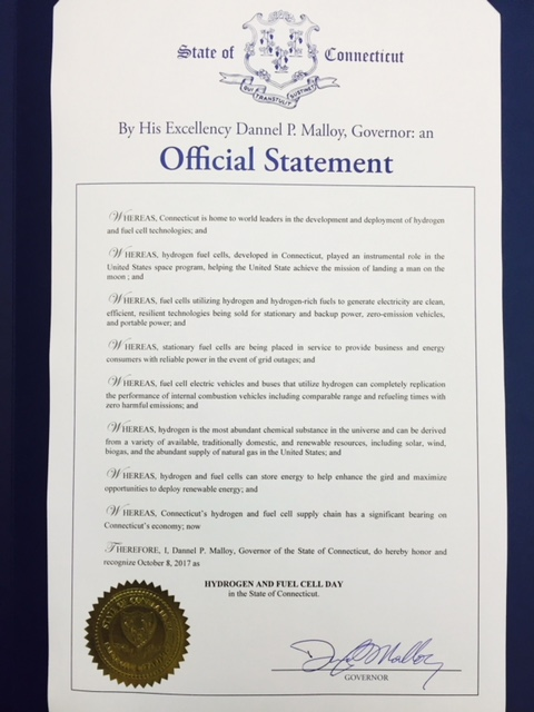 National Hydrogen and Fuel Cell Day Proclamation