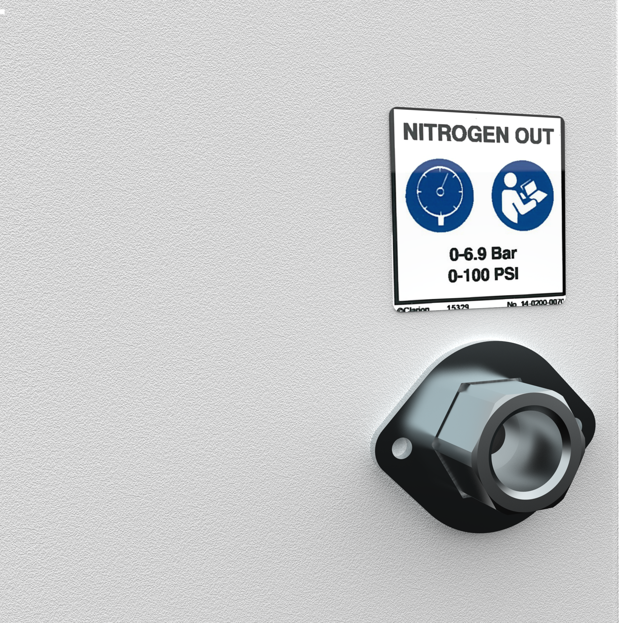 Nitrogen Outlet Port