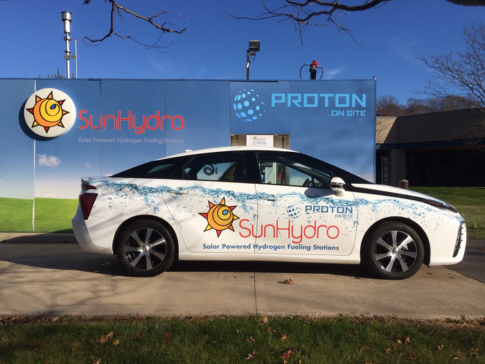 Proton OnSite hydrogen fueling station